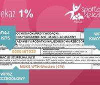 Przekaż 1% podatku dla MUKS WTH Wrocław